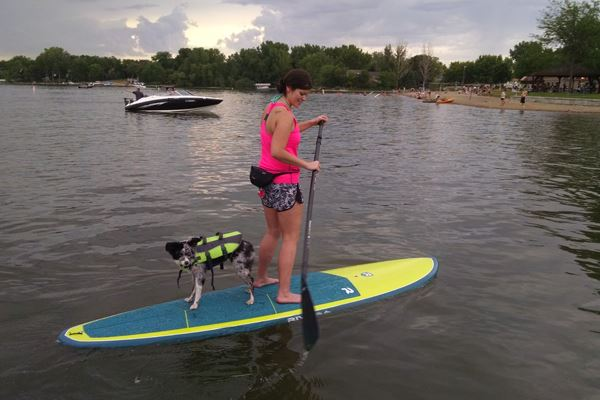 Paddleboarding on Lake Marion