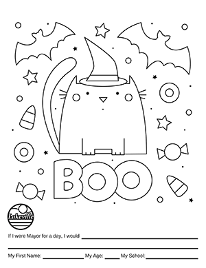 Halloween Coloring Contest Option 3